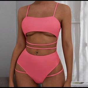 Shein sexy one piece bathing suite (strappy)